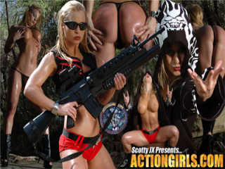 Banner for hardcore gunbrides and action girls