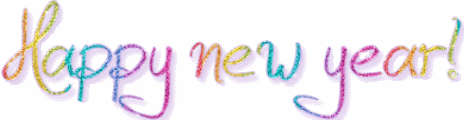 Happy new year banner top