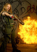 Hot armybride with flamethrower