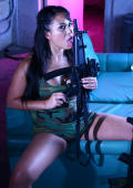Kayme Kai wants you to join the Kayme Kai army watch her getting hot and wet while she plays with the big guns!