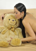Pretty asian girl with Teddybear.