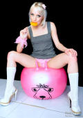 Lollipop and balloonsex for shy teeny