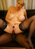 Busty milf riding african dick