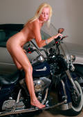 emotional ride with blond biker girl