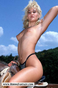 blond cowgirls riding topless 9