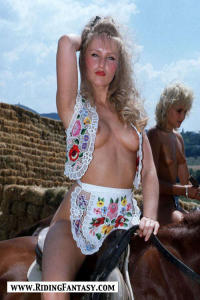 blond cowgirls riding topless 10