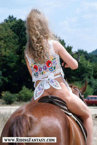 blond cowgirls riding topless 3