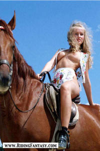 blond cowgirls riding topless 4