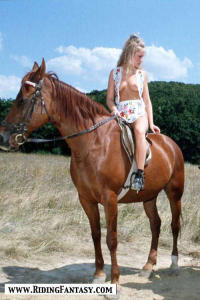 blond cowgirls riding topless 7