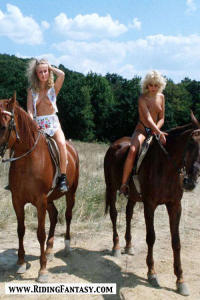 blond cowgirls riding topless 8