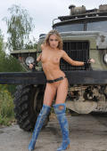 Veronika is a horny trucker bride.