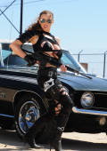 actiongirl mad horny JORDAN protecting her car