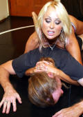 Blond powerful wrestling bitch.