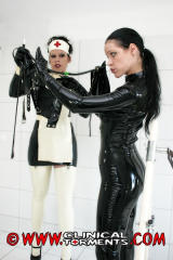 Clinic fetish in black latex