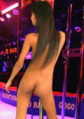 Tiny skinny asian beauty dancing naked
