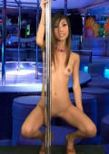 Skinny and horny nude asian girl dancing