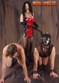 DOG training for two male slaves