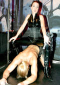 DOMINA training her slaveboy in the dungeon