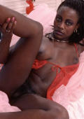 Dark girl black bush spread