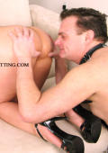 Domina and slaveboy in action