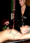 Blond slavegirl gets her tits tortured