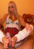 Nikky Cassidy is a dirty school girl who loves fun with dick and feet.