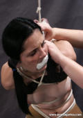 GAGGED GIRL in BONDAGE.