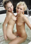 naughty Tasha gets her roommate Amanda to join her for some wet and wild times in the jacuzzi