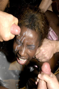 Interracial Jizz party girls in action 7