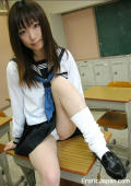 Perky boobed Japanese student gets nasty in the classroom.