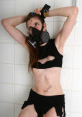 Girl Bondag in Bathtub with Gasmask