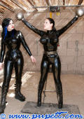 Latexgirls and electro devices.