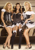 Prinzzess and her two friends dressed up like your little naughty maids