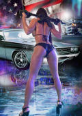 American gunbride with car