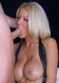 Busty girl gets facefucked