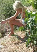 4 clips blonde girls pee outside nude