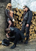 Slavegirl in outdoor BDSM
