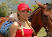 Tania Spice is such a sporty girl that loves her horse and her vibrator.