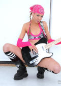 Pink girl loves to play rock and roll musick and loves to fuck all dicks.