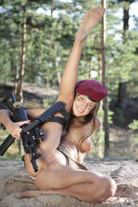 Soviet erotic army girl spreading wide