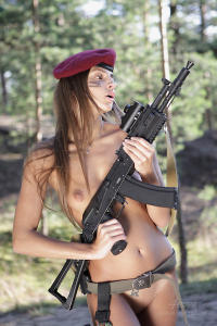 Soviet erotic army girl