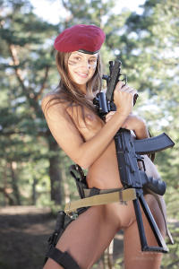 Soviet erotic army girl topless danger