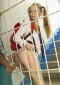 schoolgirl gets fucked behind bars