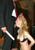 New slavegirl gets her oral training