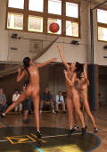 sporty actiongirls play nude basketball