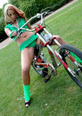 Bike riding pleasures for Irish beauty
