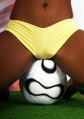 Ponytailed football mocha babe from Togo shows her perfect body.