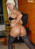 Blond Tranny with perfect ass