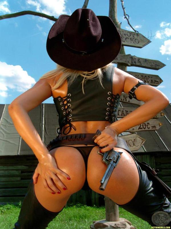 Cowgirl posing