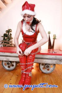 Hot and kinky Christmas girl PUPETT 11